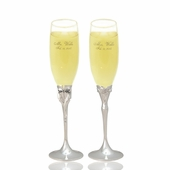 Personalized Mr. & Mrs. Wedding Flutes