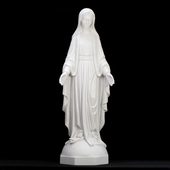 "31"" Italian White Lady of Grace Statue"