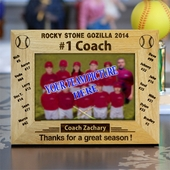Baseball Coach Photo Frame