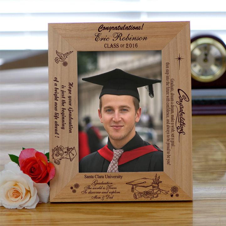 """Believe"""" Personalized Wooden Graduation Frame - Picture Frames"""