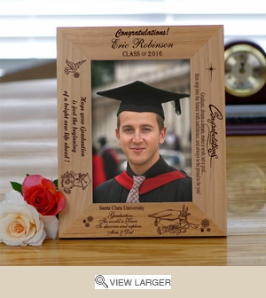 """Believe"" Personalized Wooden Graduation Frame"