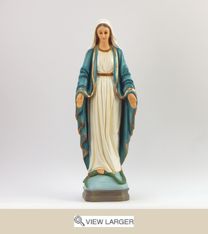 Blue Painted Lady of Grace Statue