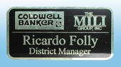 Brass Name Badge with Magnetic Holder