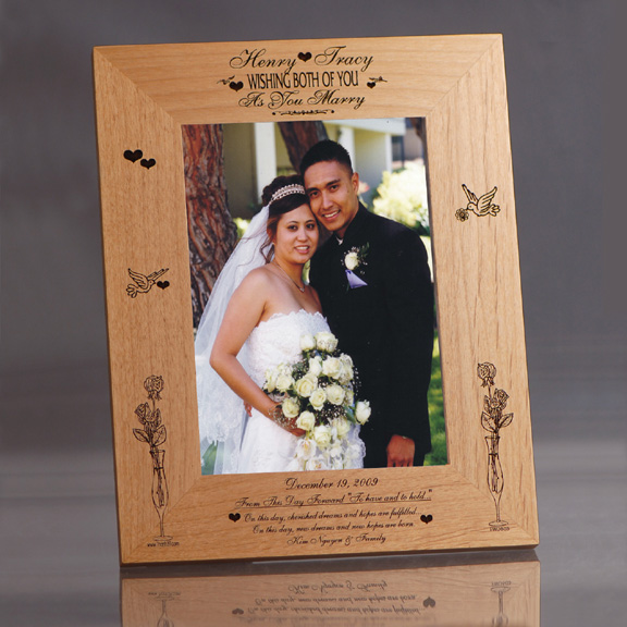 Dreams Personalized Wooden Wedding Frame Picture Frames