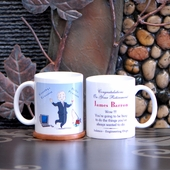 'Goodbye Tension' Personalized Retirement Mug for Him