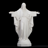 Italian White Christ the King Statue