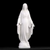 Italian White Lady of Grace Statue