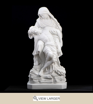Italian White Pieta Mary of Sorrow Statue