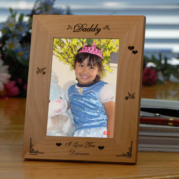 Just For Dad Personalized Wooden Picture Frame - Gifts For Dad
