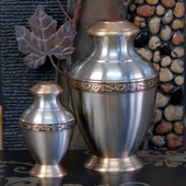 Medium Pewter Urns
