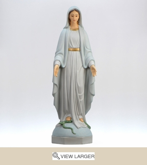 Our Lady of Peace Painted Italian Statue