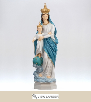 Our Lady w/ Golden Crown Statue