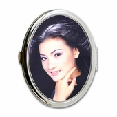 Oval Mirror Compact