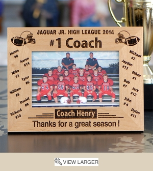 Personalized '#1 Football Coach' Photo Frame FSP441
