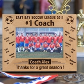 Personalized '#1 Soccer Coach' Photo Frame