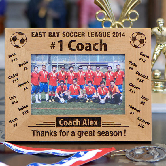 personalized 1 soccer coach photo frame sport party gifts