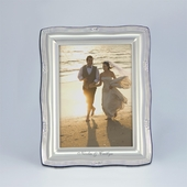 Personalized 5x7 Wavy Silver Picture Frame