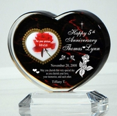 Personalized Anniversary Heart Keepsake