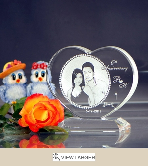 Personalized Anniversary Photo Heart
