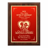 Personalized Anniversary Plaque
