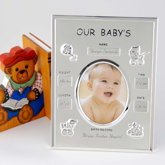 Personalized Baby Birth Record Photo Frame. - Picture Frames