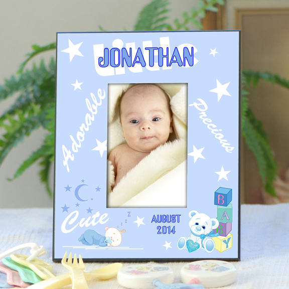 Personalized Baby Picture Frame For Boys Whats New