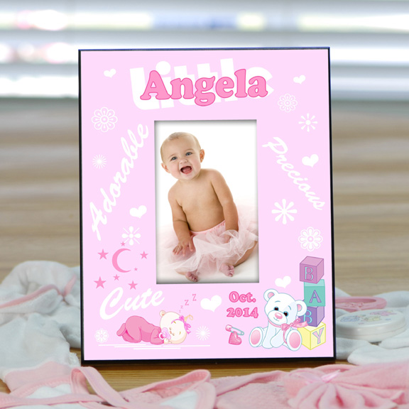 Personalized Baby Picture Frame for Girls - What\'s New