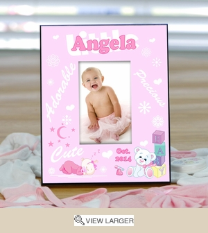 Personalized Baby Picture Frame for Girls