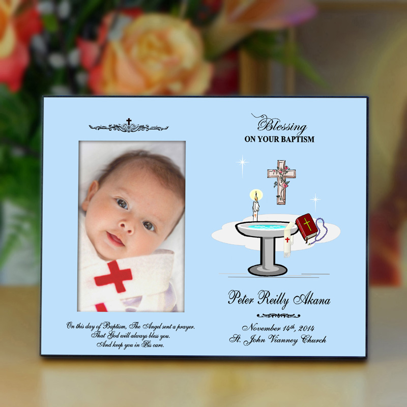 Personalized Baptism Picture Frame - Religion Gifts Collection.
