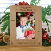 Personalized 'Best of Life for Mom-Dad' Christmas Photo Frame
