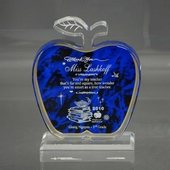 Personalized Blue Apple Teacher Keepsake