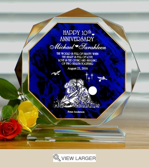 Personalized Blue 'Full of Love' Polygonal Keepsake