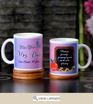 Personalized 'Caring Teacher' Mug