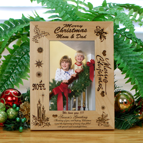 Personalized Christmas Wood Frame for Loved Ones - Holiday Photo Frames