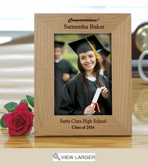 Personalized Clean Wood Picture Frame