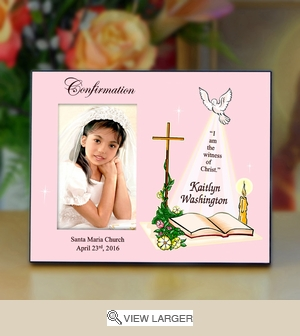 Personalized Confirmation Picture Frame
