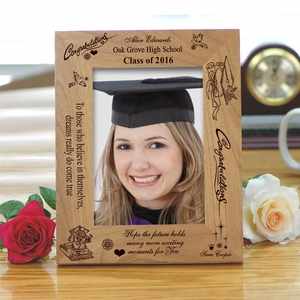 personalized congrats wooden graduation frame picture frames