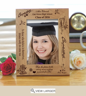 Personalized Congrats Wooden Graduation Frame