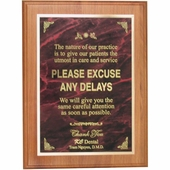 Personalized Dental Excuse Plaque