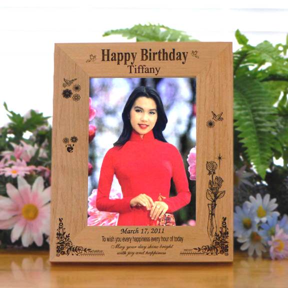 Personalized \'Every Happiness\' Wood Birthday Frame - Picture Frames
