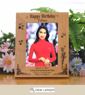Personalized 'Every Happiness' Wood Birthday Frame