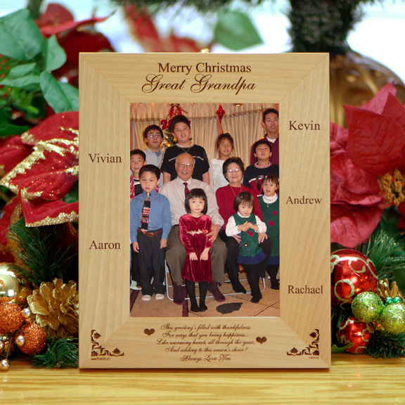 personalized family wooden christmas picture frame