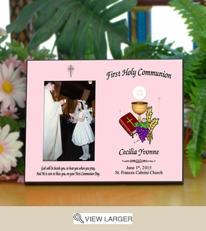 Personalized First Communion Day Picture Frame