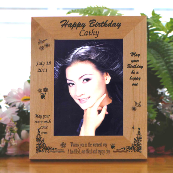 Personalized Birthday Wooden Picture Frame - Picture Frames