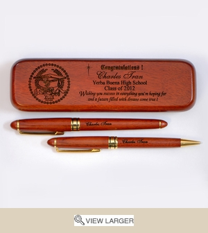 Personalized Graduate 'Success' Rosewood Set