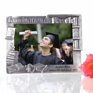 personalized graduation books pewter frame picture frames