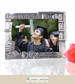 Personalized Graduation Books Pewter Frame