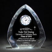 Personalized Graduation Premier Crystal Arch Clock
