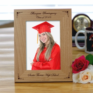 personalized graduation picture frame hold 4 x6 photo picture