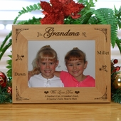 Personalized 'Grandma' Wood Christmas Frame